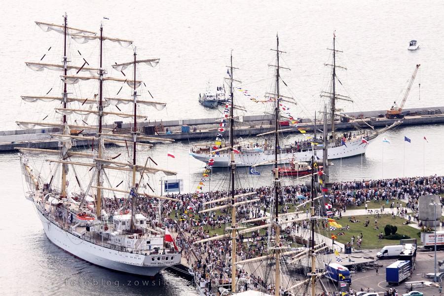 """Zlot Żaglowców Gdynia 2009. Regaty (CUTTY SARK) """"The Tall Ship`s Races"""" cz 2 z 2. 4"""