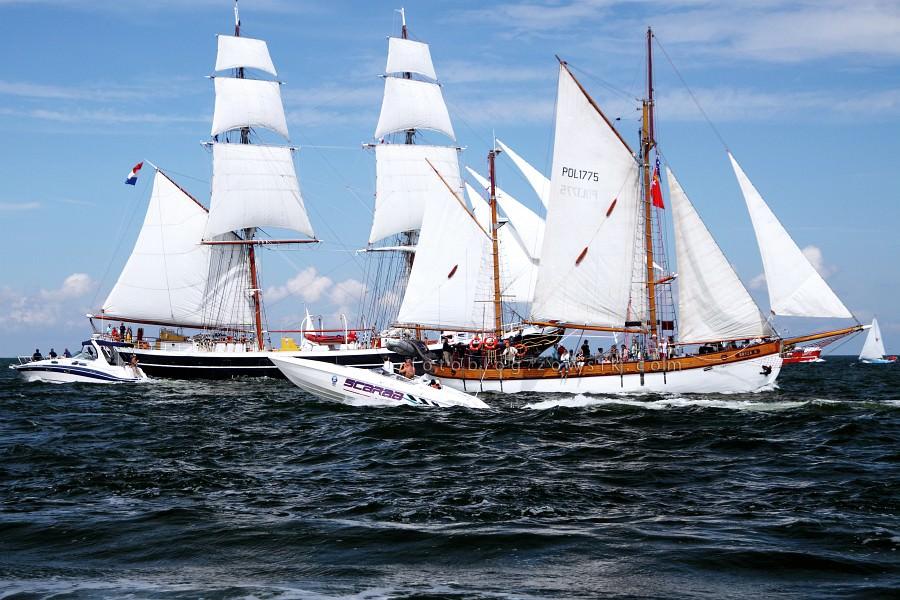 """Zlot Żaglowców Gdynia 2009. Regaty (CUTTY SARK) """"The Tall Ship`s Races"""" cz 2 z 2. 19"""