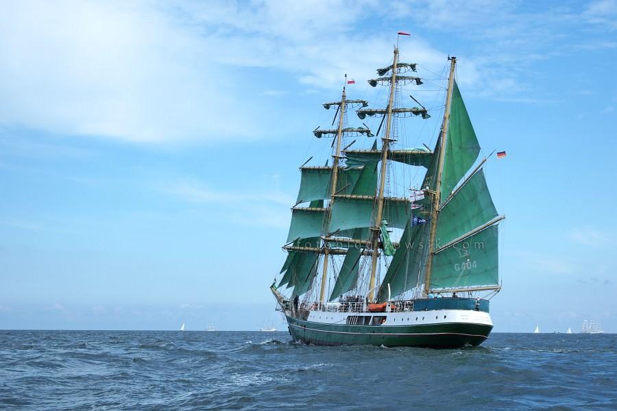 """Zlot Żaglowców Gdynia 2009. Regaty (CUTTY SARK) """"The Tall Ship`s Races"""" cz 2 z 2. 45"""