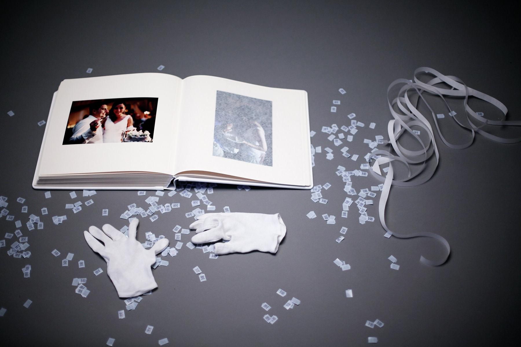 Ekskluzywny album ślubny firmy Barański – wyklejanie, zdjęcia.