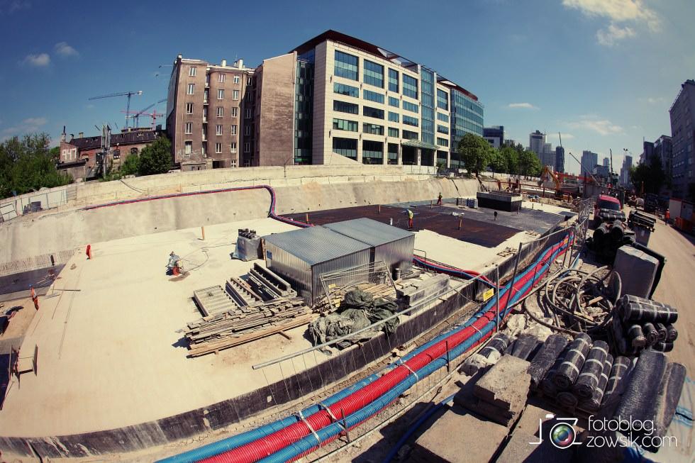 W budowie - stacja II linii metra - Rondo Daszyńskiego (C9) i tarcze TBM (Anna i Maria). 4