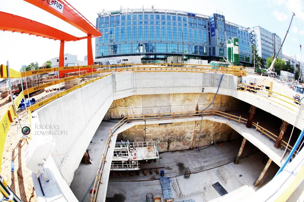 W budowie - stacja II linii metra - Rondo Daszyńskiego (C9) i tarcze TBM (Anna i Maria). 6