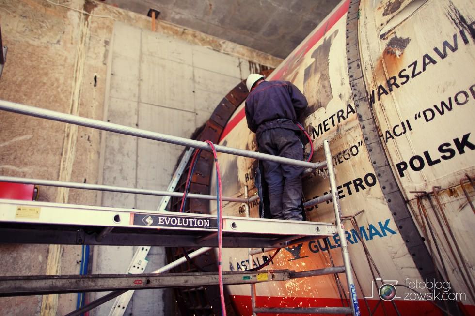 W budowie - stacja II linii metra - Rondo Daszyńskiego (C9) i tarcze TBM (Anna i Maria). 24