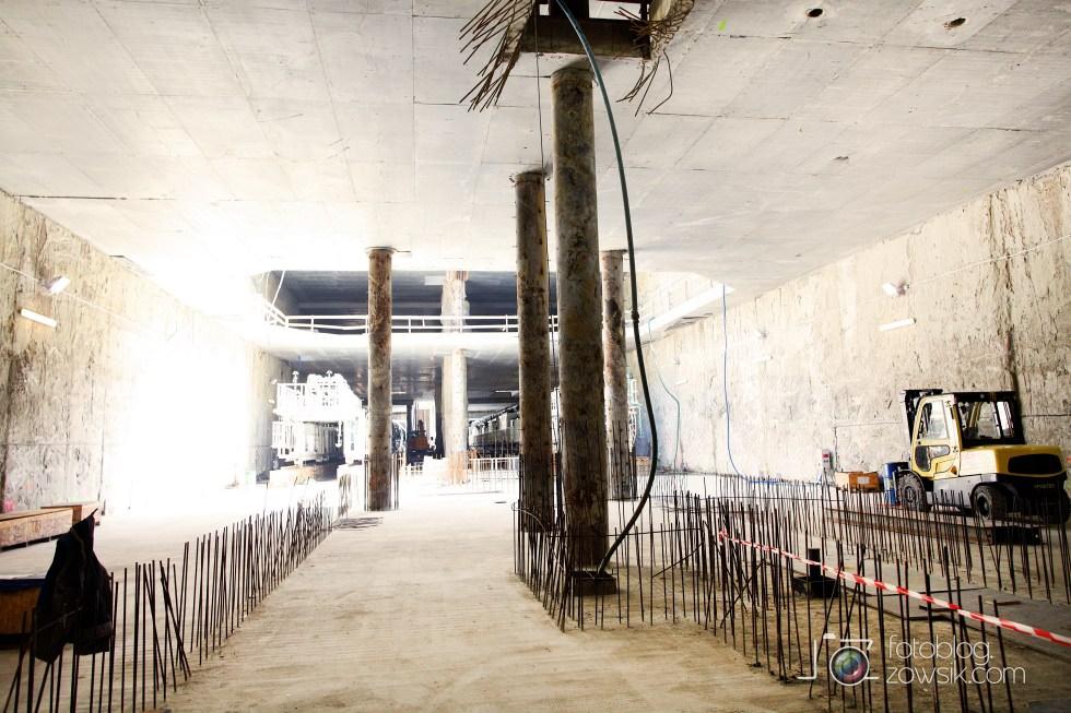 W budowie - stacja II linii metra - Rondo Daszyńskiego (C9) i tarcze TBM (Anna i Maria). 43