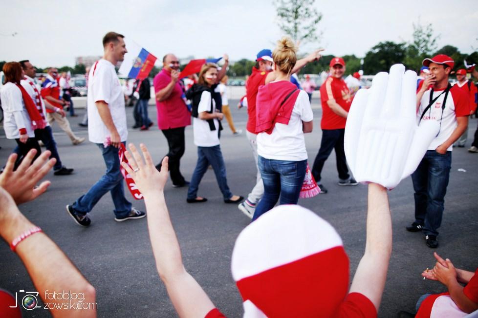 UEFA EURO 2012. Mecz Polska – Rosja. Reportaż od Stadionu do strefy kibica. Warszawa. 7