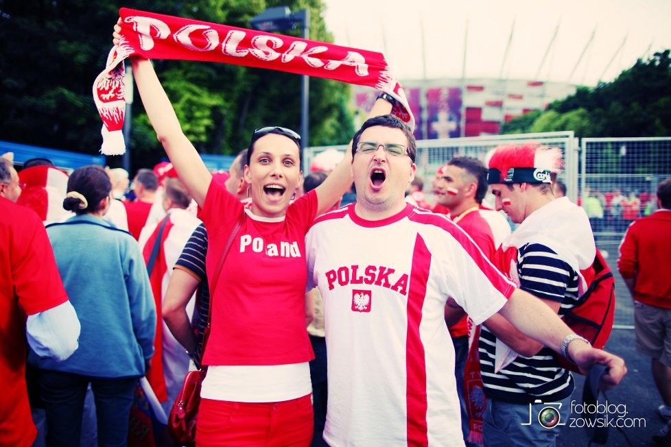 UEFA EURO 2012. Mecz Polska – Rosja. Reportaż od Stadionu do strefy kibica. Warszawa. 9