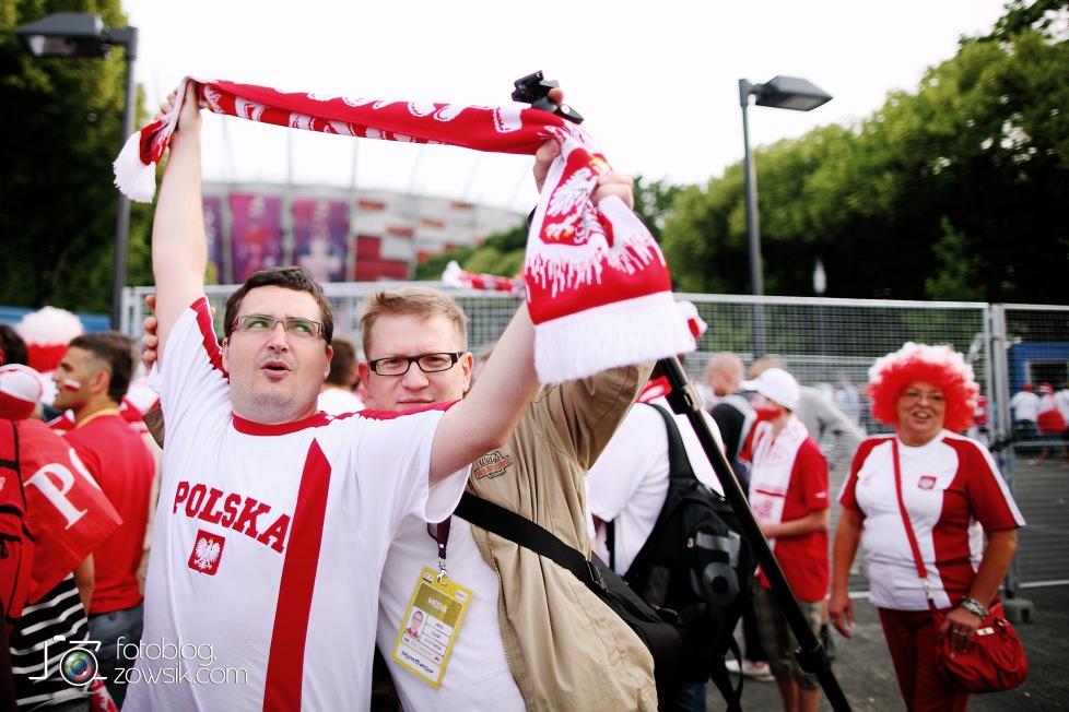 UEFA EURO 2012. Mecz Polska – Rosja. Reportaż od Stadionu do strefy kibica. Warszawa. 82
