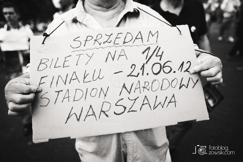 UEFA EURO 2012. Mecz Polska – Rosja. Reportaż od Stadionu do strefy kibica. Warszawa. 12