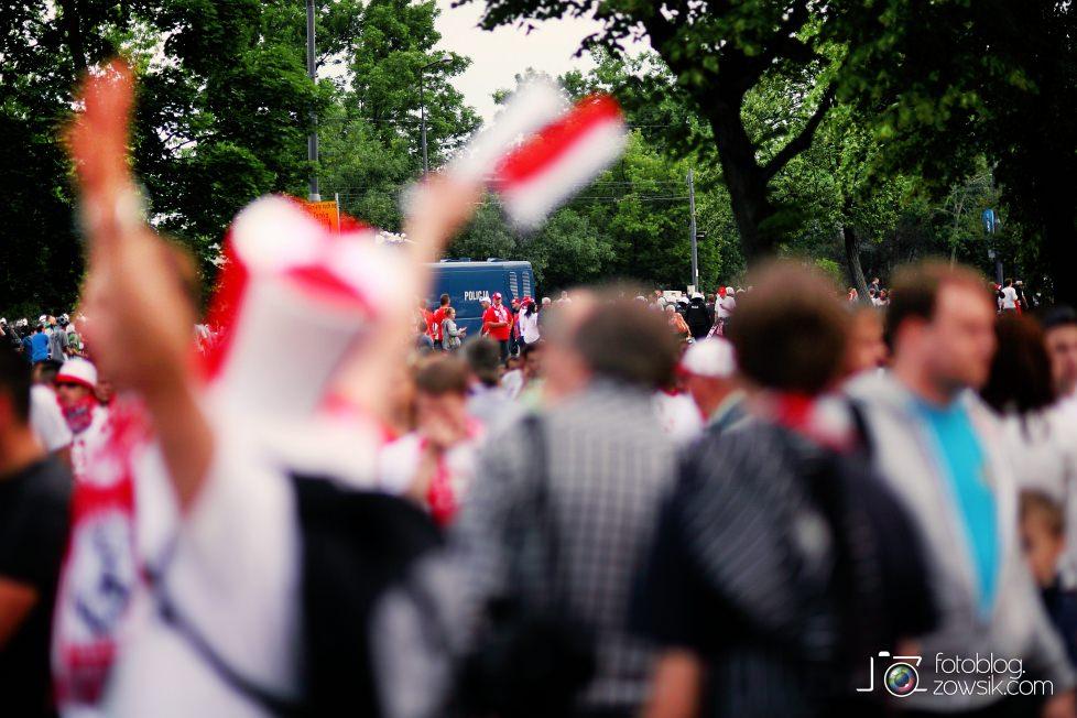 UEFA EURO 2012. Mecz Polska – Rosja. Reportaż od Stadionu do strefy kibica. Warszawa. 19