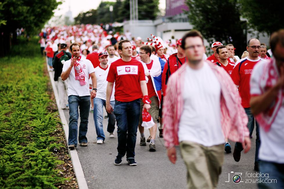UEFA EURO 2012. Mecz Polska – Rosja. Reportaż od Stadionu do strefy kibica. Warszawa. 20