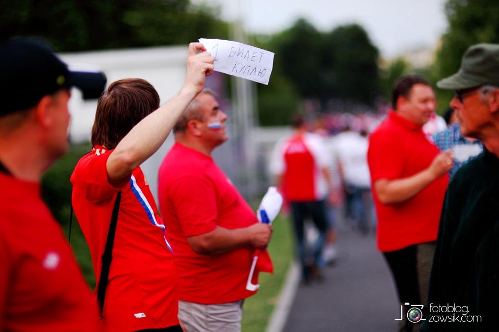 UEFA EURO 2012. Mecz Polska – Rosja. Reportaż od Stadionu do strefy kibica. Warszawa. 21