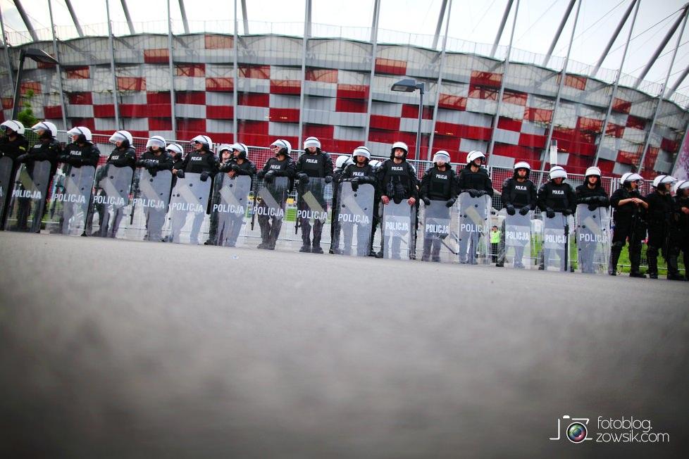 UEFA EURO 2012. Mecz Polska – Rosja. Reportaż od Stadionu do strefy kibica. Warszawa. 22
