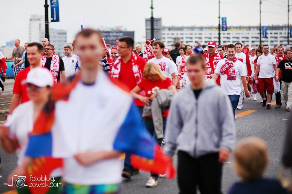 UEFA EURO 2012. Mecz Polska – Rosja. Reportaż od Stadionu do strefy kibica. Warszawa. 25