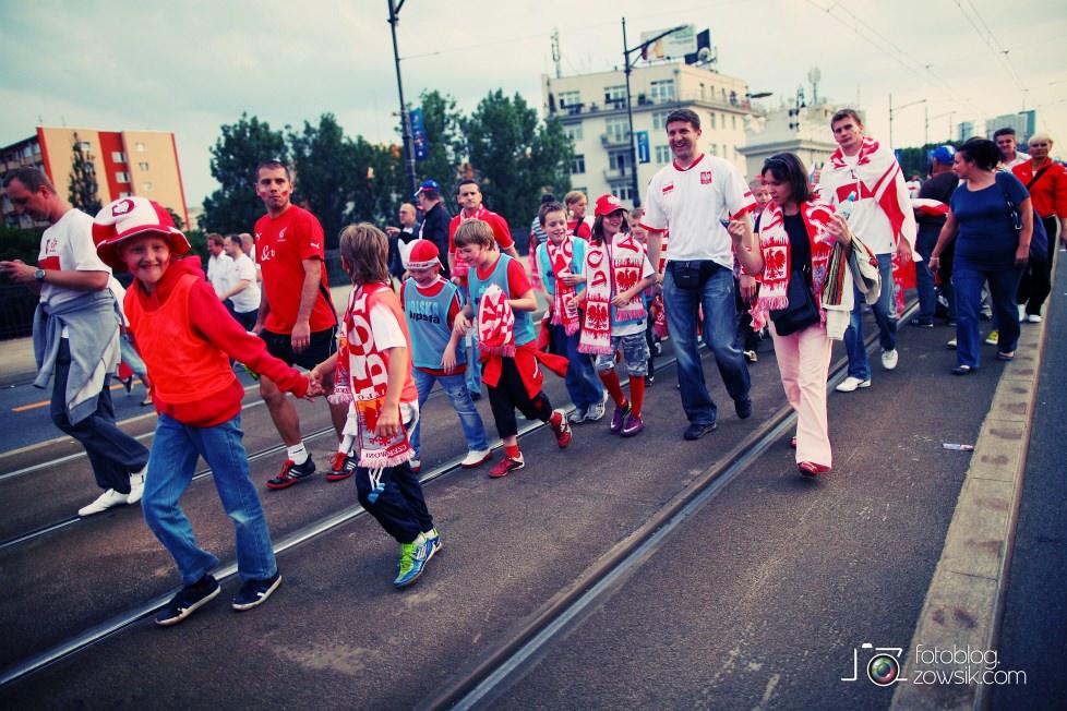 UEFA EURO 2012. Mecz Polska – Rosja. Reportaż od Stadionu do strefy kibica. Warszawa. 33