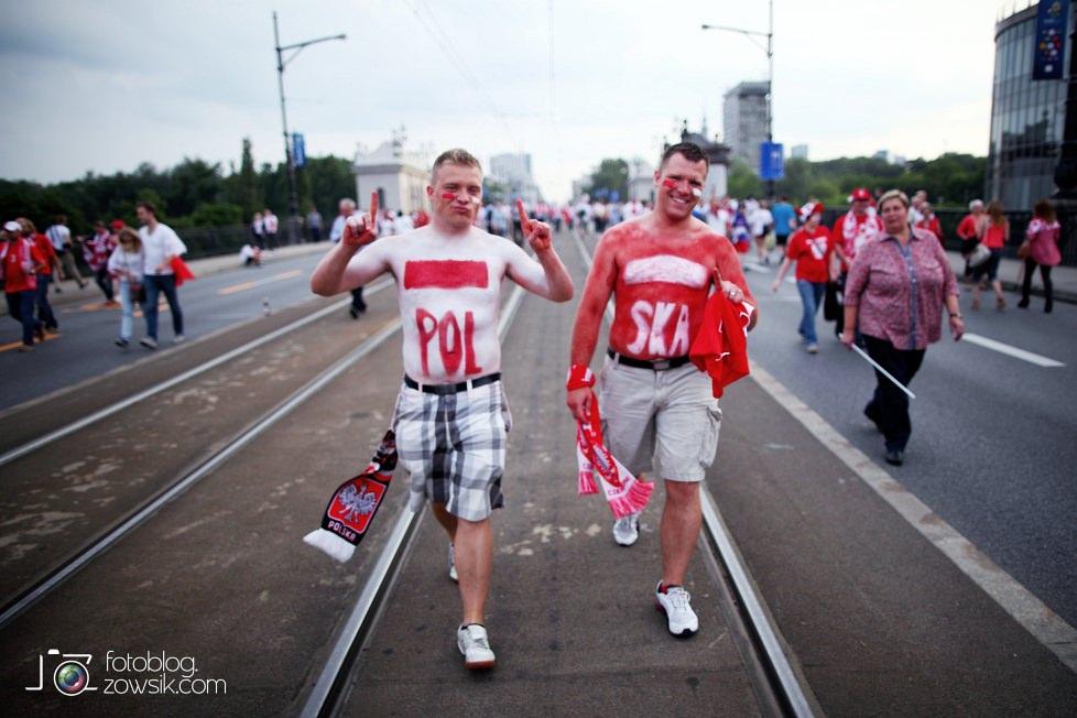 UEFA EURO 2012. Mecz Polska – Rosja. Reportaż od Stadionu do strefy kibica. Warszawa. 34