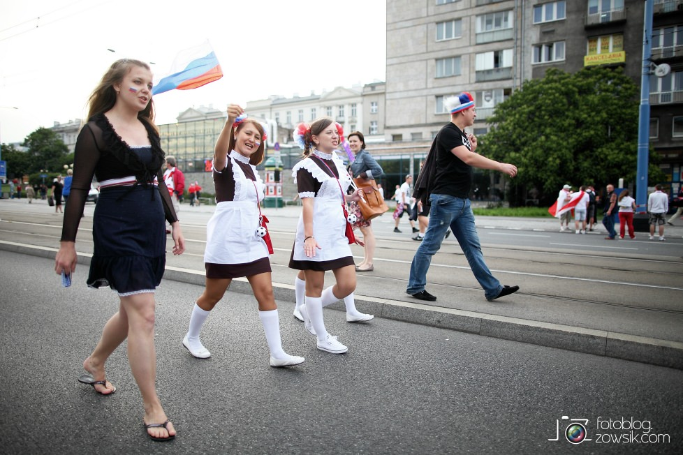 UEFA EURO 2012. Mecz Polska – Rosja. Reportaż od Stadionu do strefy kibica. Warszawa. 35