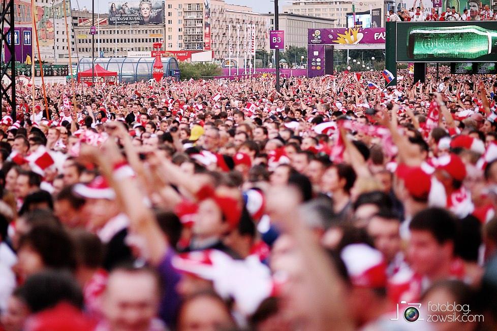 UEFA EURO 2012. Mecz Polska – Rosja. Reportaż od Stadionu do strefy kibica. Warszawa. 46