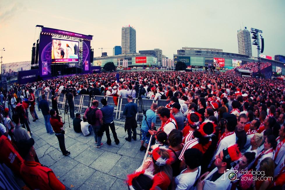 UEFA EURO 2012. Mecz Polska – Rosja. Reportaż od Stadionu do strefy kibica. Warszawa. 50