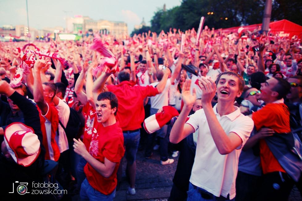 UEFA EURO 2012. Mecz Polska – Rosja. Reportaż od Stadionu do strefy kibica. Warszawa. 55