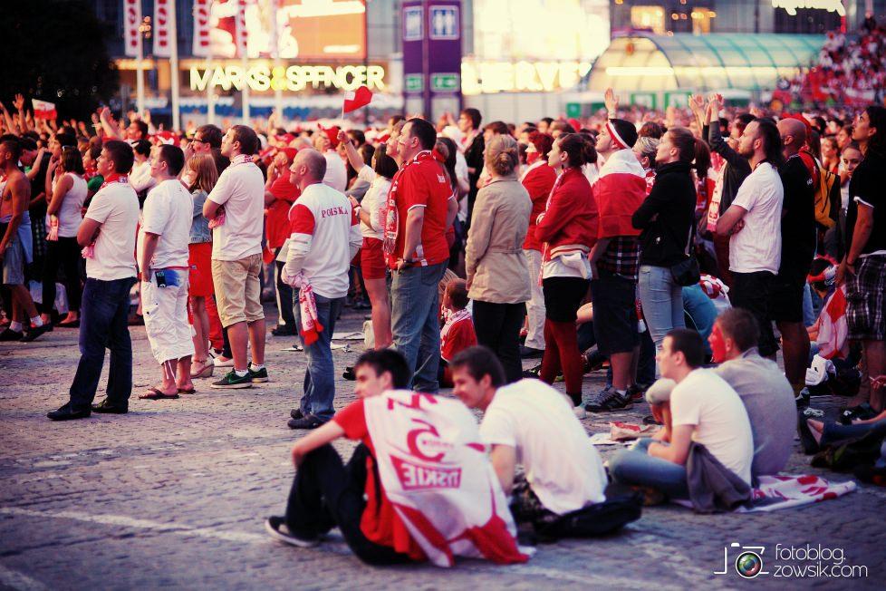 UEFA EURO 2012. Mecz Polska – Rosja. Reportaż od Stadionu do strefy kibica. Warszawa. 58