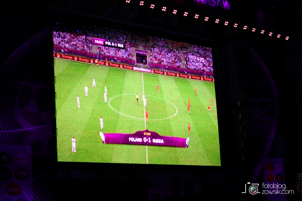 UEFA EURO 2012. Mecz Polska – Rosja. Reportaż od Stadionu do strefy kibica. Warszawa. 60