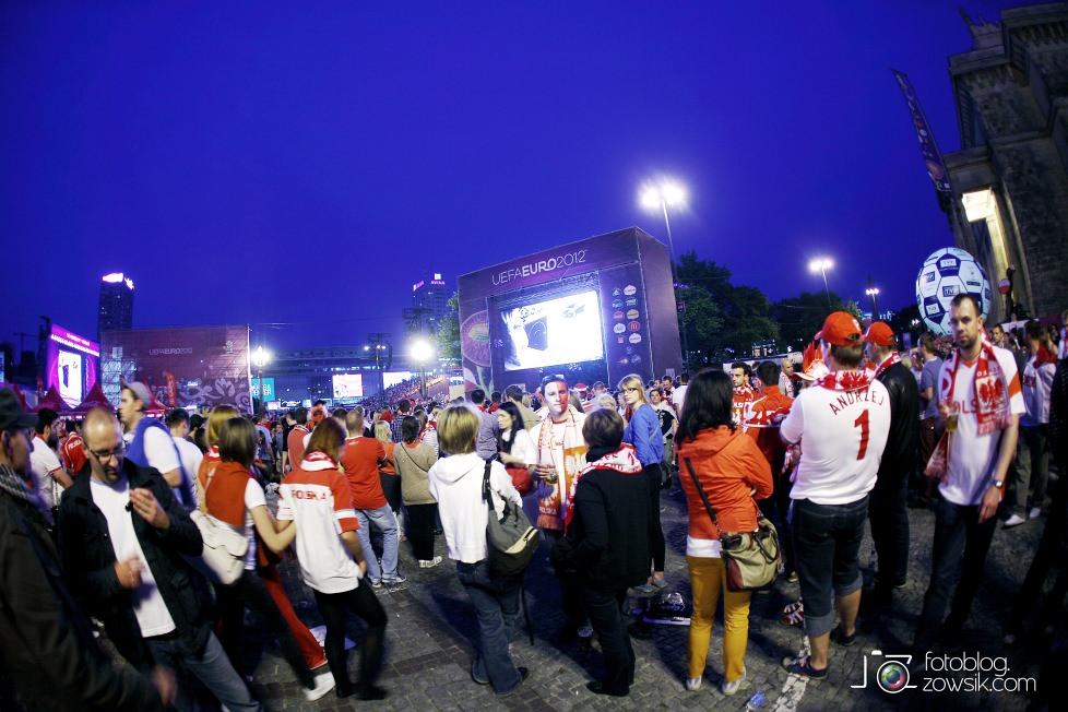 UEFA EURO 2012. Mecz Polska – Rosja. Reportaż od Stadionu do strefy kibica. Warszawa. 61