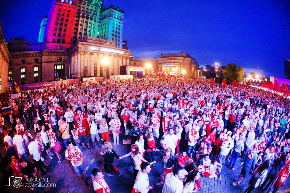 UEFA EURO 2012. Mecz Polska – Rosja. Reportaż od Stadionu do strefy kibica. Warszawa. 62