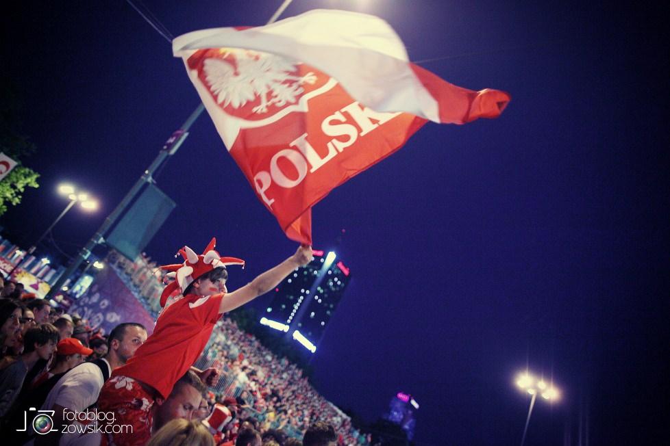 UEFA EURO 2012. Mecz Polska – Rosja. Reportaż od Stadionu do strefy kibica. Warszawa. 69