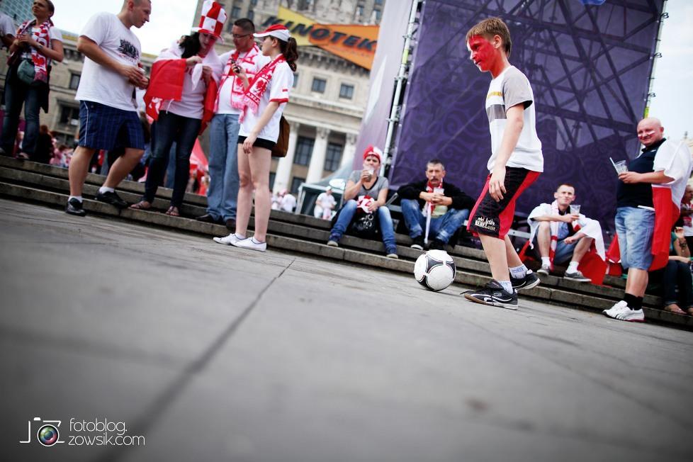 UEFA EURO 2012. Mecz Polska - Grecja. Reportaż ze strefy kibica w Warszawie. 24