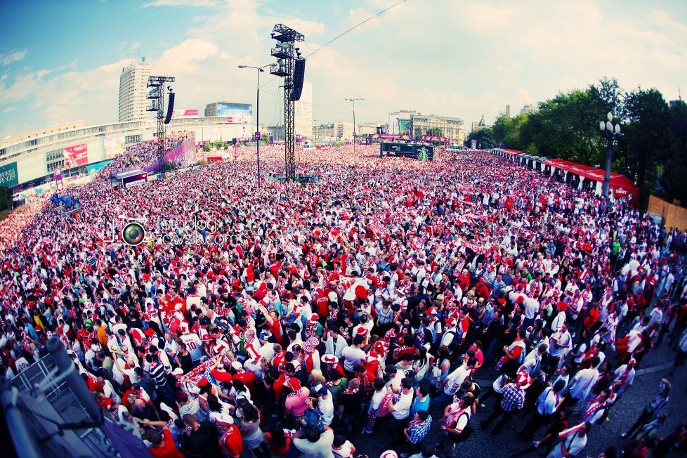 UEFA EURO 2012. Mecz Polska - Grecja. Reportaż ze strefy kibica w Warszawie. 29