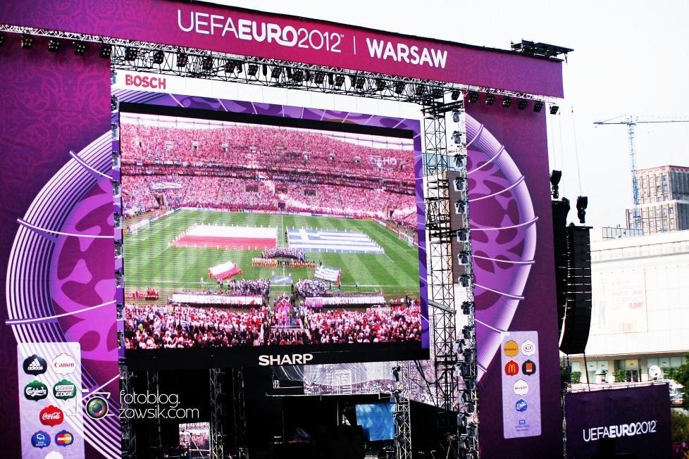 UEFA EURO 2012. Mecz Polska - Grecja. Reportaż ze strefy kibica w Warszawie. 45