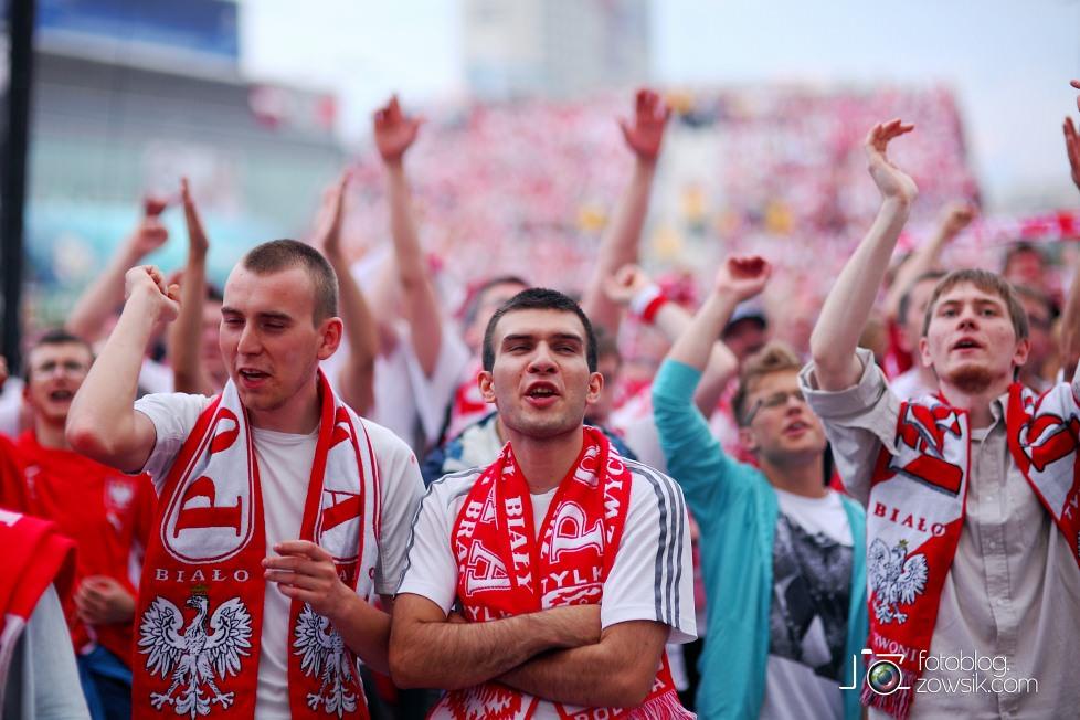 UEFA EURO 2012. Mecz Polska - Grecja. Reportaż ze strefy kibica w Warszawie. 61