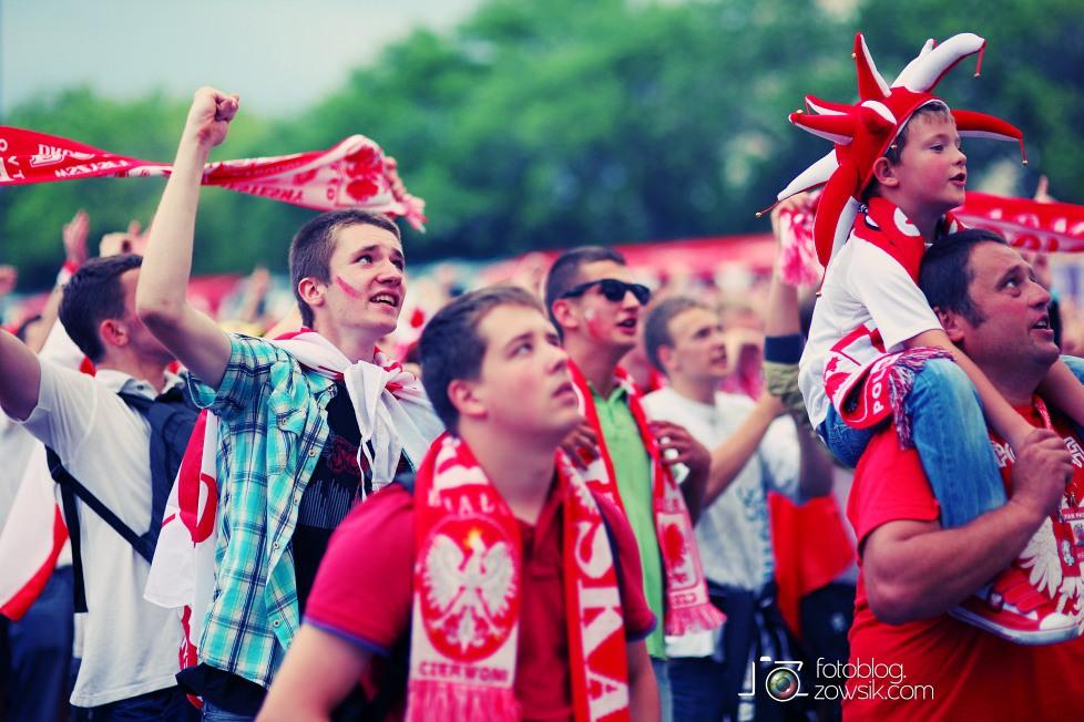 UEFA EURO 2012. Mecz Polska - Grecja. Reportaż ze strefy kibica w Warszawie. 62