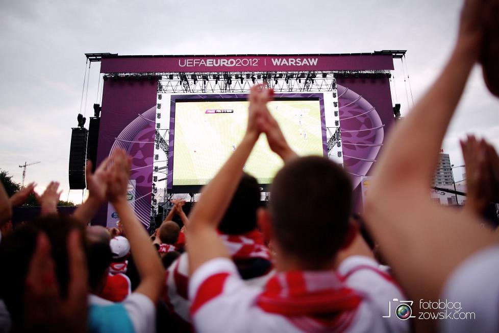 UEFA EURO 2012. Mecz Polska - Grecja. Reportaż ze strefy kibica w Warszawie. 67