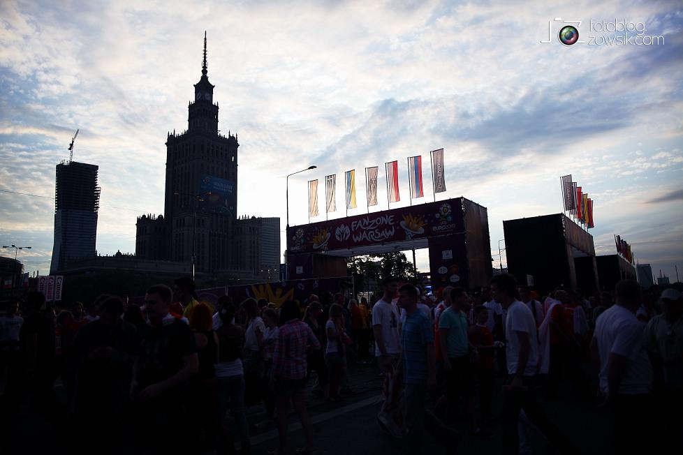 UEFA EURO 2012. Mecz Polska - Grecja. Reportaż ze strefy kibica w Warszawie. 71