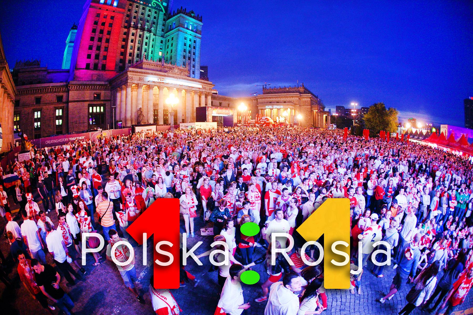 UEFA EURO 2012. Mecz Polska – Rosja. Reportaż od Stadionu do strefy kibica. Warszawa.
