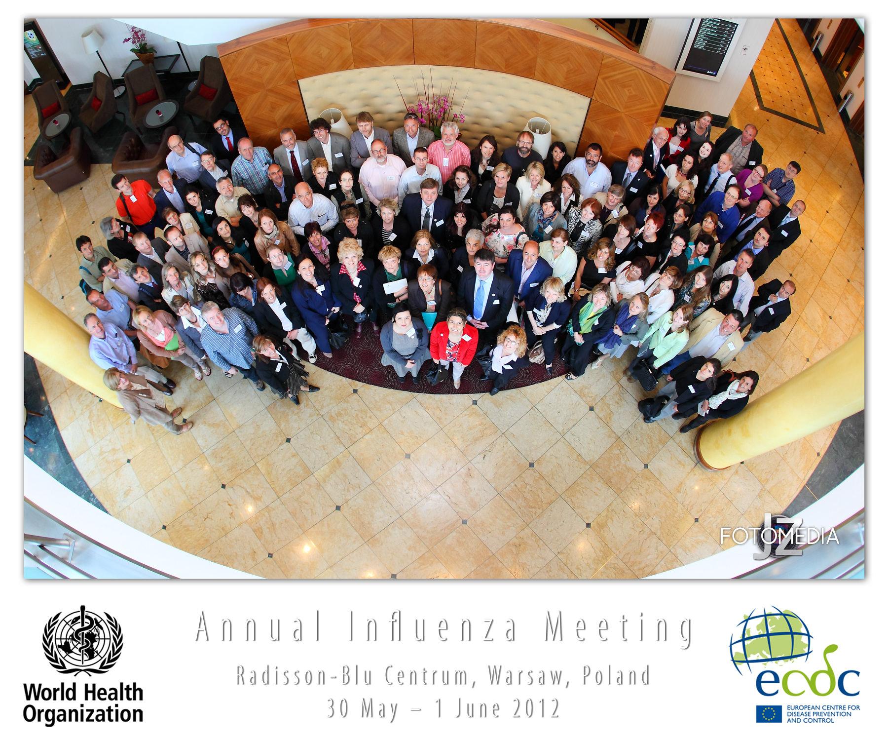 ECDC and WHO European Regional Influenza surveillance meeting. 2012. Warszawa. Obsługa fotograficzna konferencji.