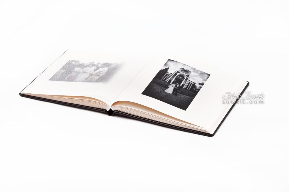 Joanna & Łukasz - ekskluzywny album ślubny, skóra naturalna, firma Barański. Etui na DVD i płyta DVD z nadrukiem. Warszawa. 8