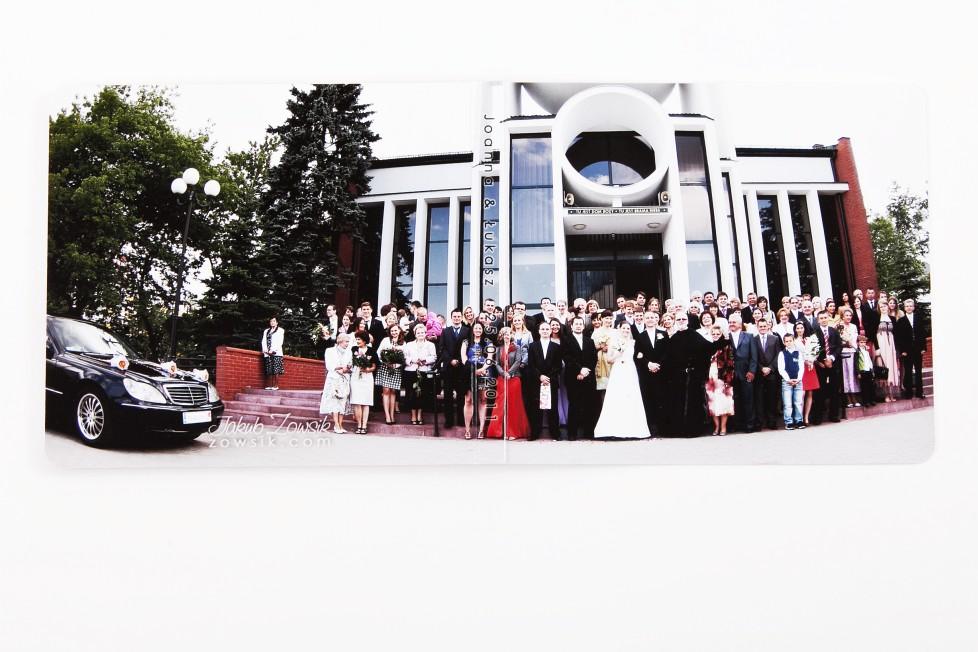 Joanna & Łukasz - ekskluzywny album ślubny, skóra naturalna, firma Barański. Etui na DVD i płyta DVD z nadrukiem. Warszawa. 21