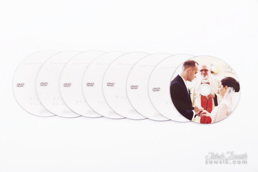 Joanna & Łukasz - ekskluzywny album ślubny, skóra naturalna, firma Barański. Etui na DVD i płyta DVD z nadrukiem. Warszawa. 22