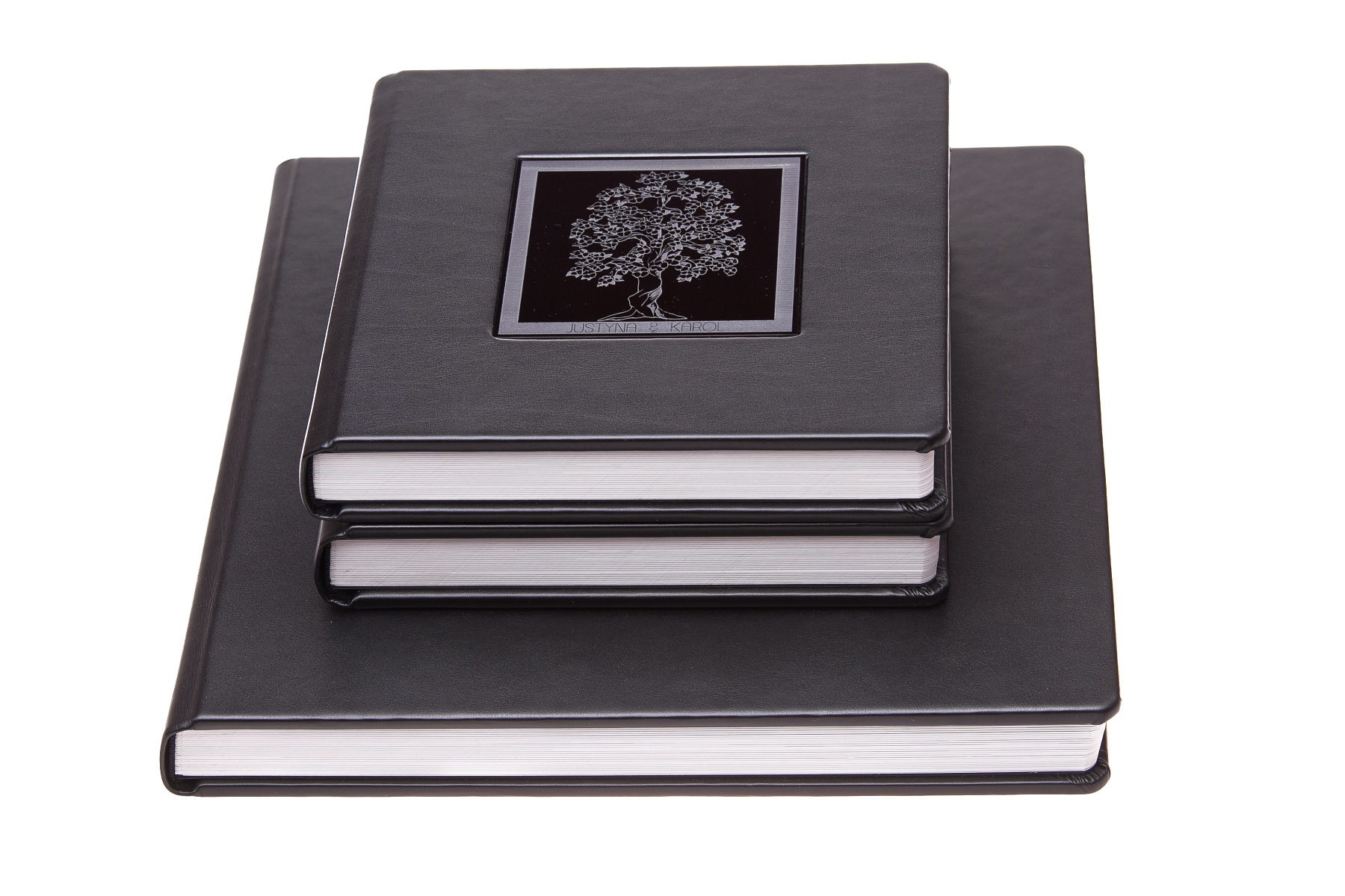Ekskluzywna fotoksiążka – pakiet 1+2 (album 30x30cm + 2 albumy 20x20cm). Justyna & Karol