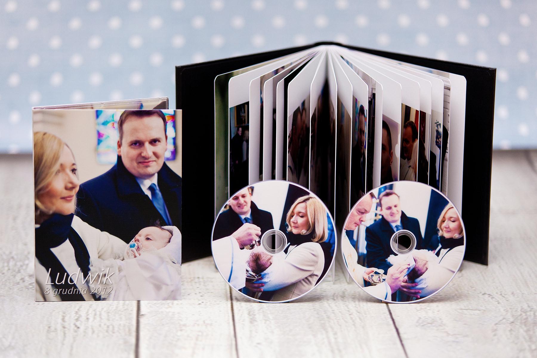 Ekskluzywny fotoalbum, etui na DVD + płyty dvd. Chrzciny Ludwika.