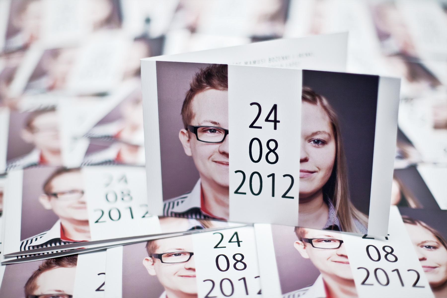 Zaproszenie ślubne ze zdjęciem, projekt, sesja zdjęciowa. Grzegorz i Marta