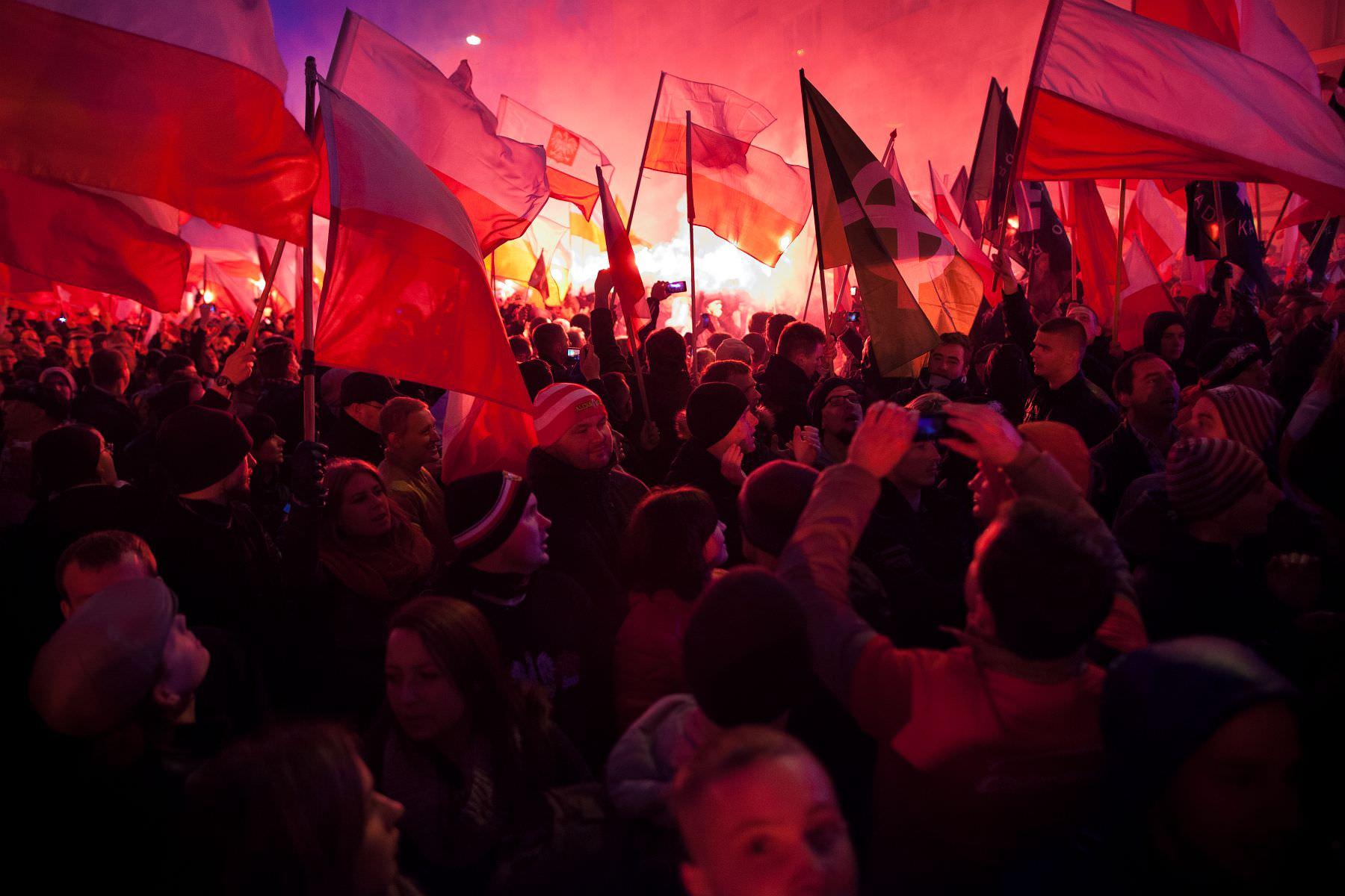 11 listopada 2013, 95 rocznica odzyskania niepodległości. Warszawa, Marsz Niepodległości.