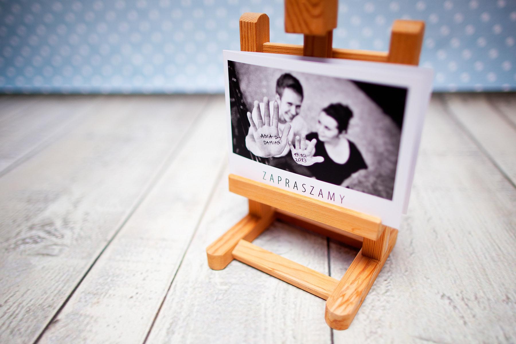 Zaproszenia ślubne ze zdjęciem + projekt. Asia i Damian
