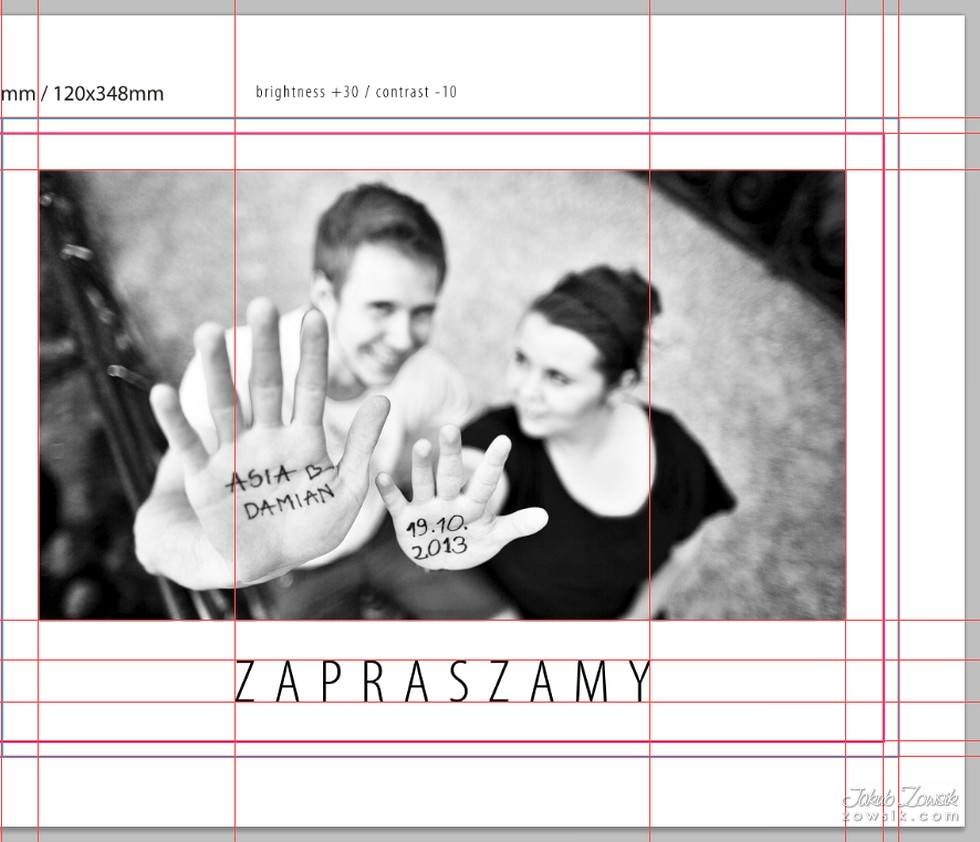 Zaproszenia ślubne Ze Zdjęciem Projekt Asia I Damian Jakub