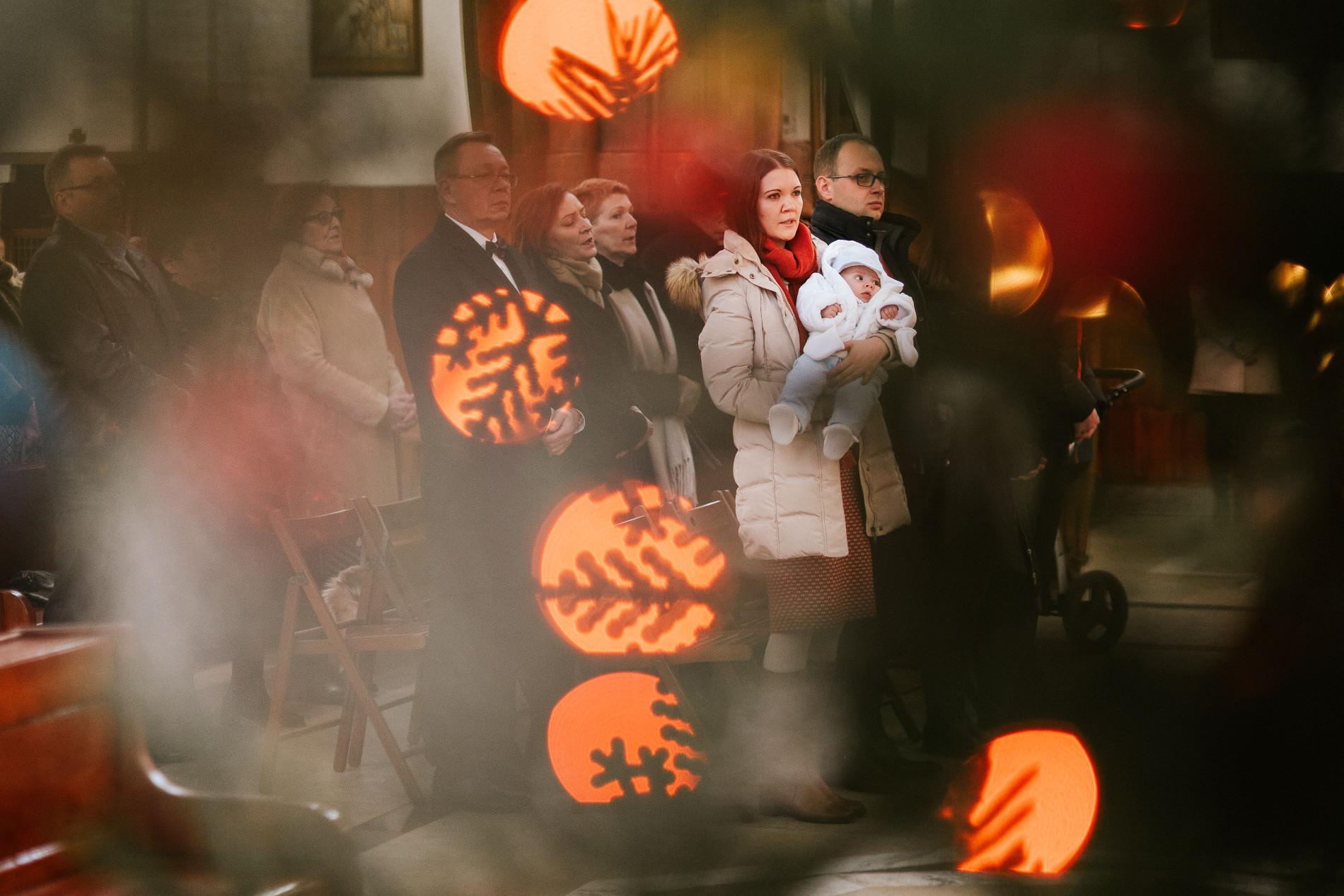 Antoś | Zdjęcia z chrzcin w Boże Narodzenie | Warszawa, Włochy