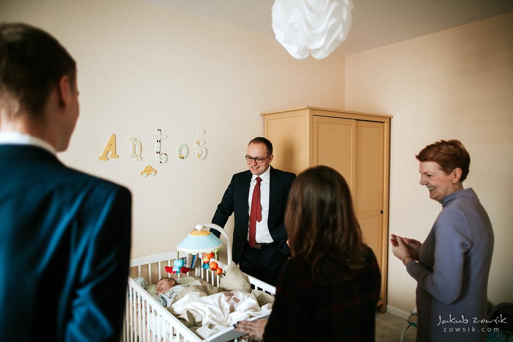 Antoś | Zdjęcia z chrzcin w Boże Narodzenie | Warszawa, Włochy 8