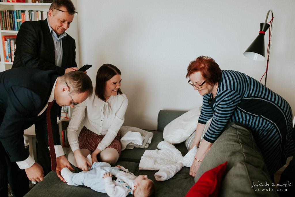 Antoś | Zdjęcia z chrzcin w Boże Narodzenie | Warszawa, Włochy 27