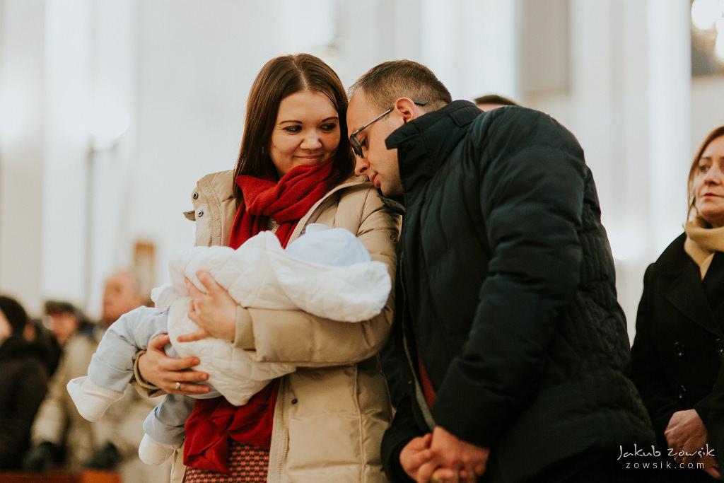 Antoś | Zdjęcia z chrzcin w Boże Narodzenie | Warszawa, Włochy 48